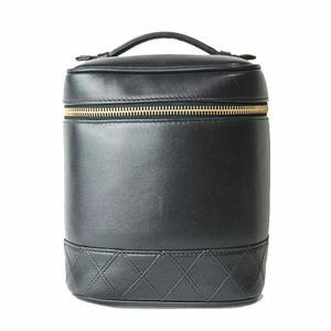 Chanel CHANEL Bicolore Vanity Bag A01619 Lambskin Black Women's