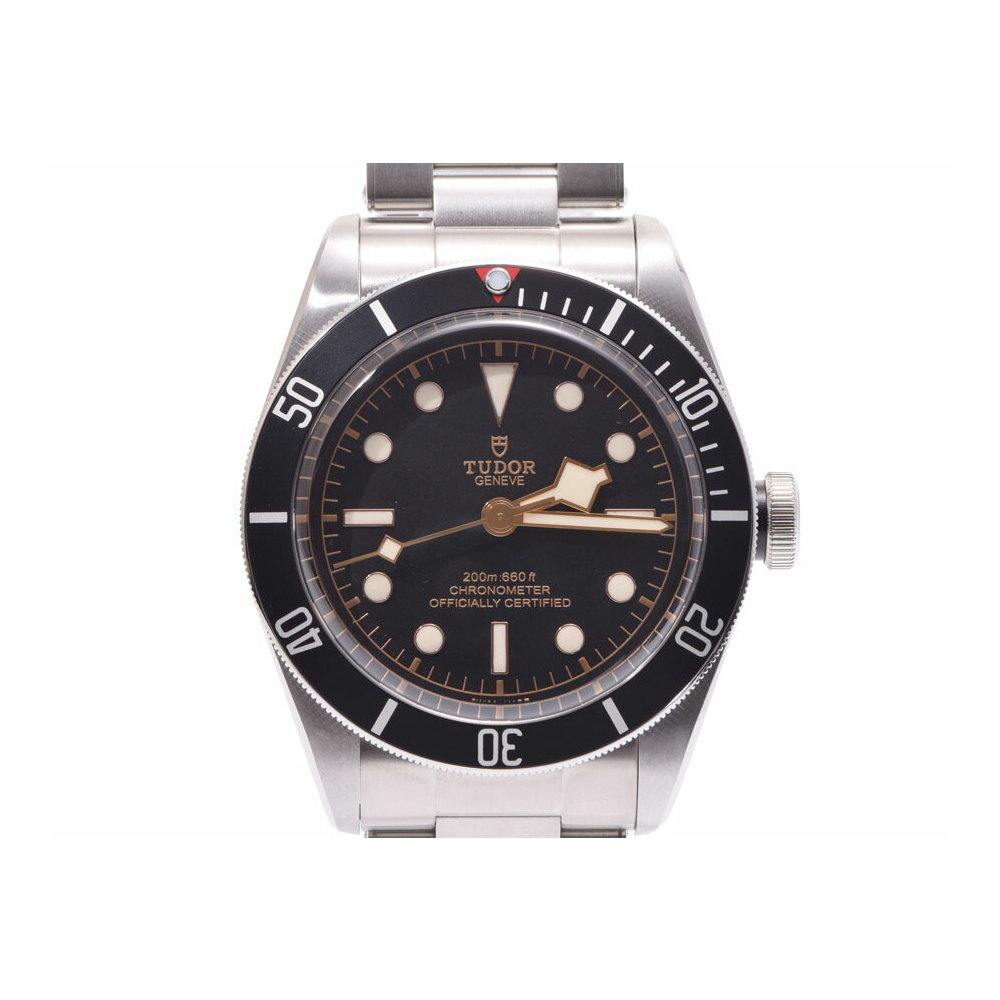 チュードル ヘリテージ ブラックベイ 黒文字盤 黒ベゼル 79230N メンズ SS 自動巻 腕時計 Aランク 美品 TUDOR 箱 ギャラ 中古 銀蔵