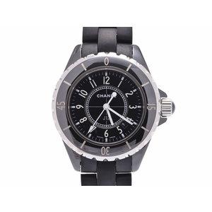 シャネル J12 33mm 黒文字盤 H0680 レディース ラバー 黒セラミック クオーツ 腕時計 Aランク 美品 CHANEL 中古 銀蔵
