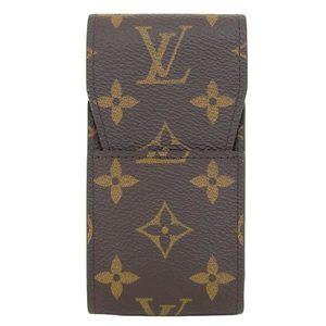 Real LOUIS VUITTON Louis Vuitton Monogram Cigarette Case M63024