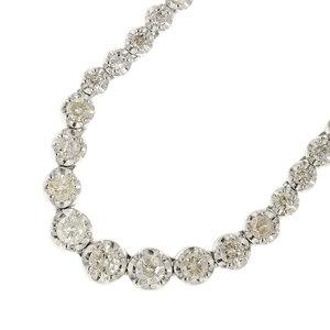 Genuine K18 diamond 3.00ct necklace