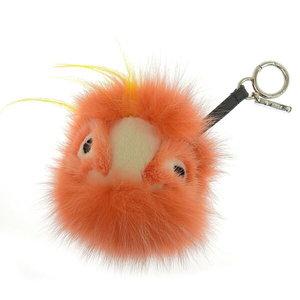 Real FENDI Fendi Monster Charm Fur Orange
