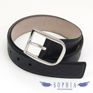 Micro Guccissima leather belt black size 85 20181024