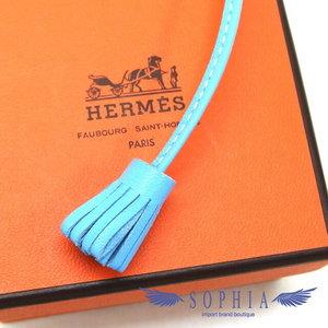 Hermes Carmen Cheetah 13 Bookmark Celeste (light blue) 20180919