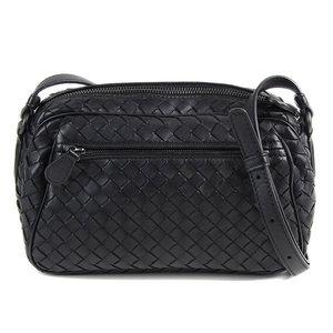 Bottega Veneta BOTTEGAVENETA Intorechat leather shoulder bag Black diagonal  women s ladies   BG aed52dfeb5e80
