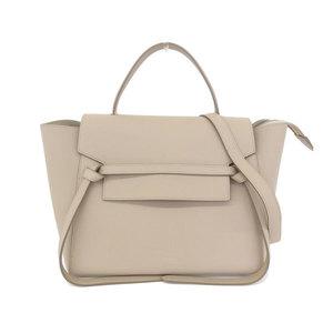 81a39ff3ab CELINE Celine belt bag mini leather 2WAY handbag shoulder beige series  176103XVA18LT