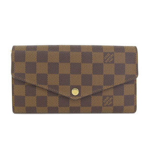4ddcd56463f2 LOUIS VUITTON Louis Vuitton Damier Porto Foye Sara Folded Purse Ebene N  63209 CT 1154 Women s