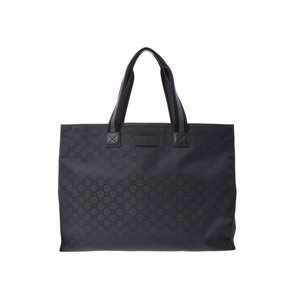 726dd7b42 Gucci GG pattern tote bag black men s ladies nylon leather sale item A rank  beautiful goods