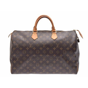 9eaf19eda4b5 Louis Vuitton Monogram Speedy 40 Brown M41522 Men s Women s Handbag Boston  Bag Rank B LOUIS VUITTON