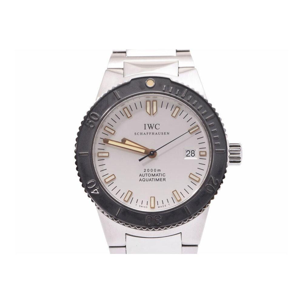 IWC GSTアクアタイマー 白系文字盤 IW353603 メンズ SS 自動巻 腕時計 Aランク 美品 ギャラ 中古 銀蔵