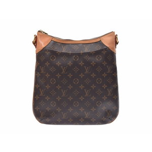 22cbd76332d3 Louis Vuitton Monogram Odeon MM Brown M56389 Men s Women s Genuine leather  shoulder bag B rank LOUIS