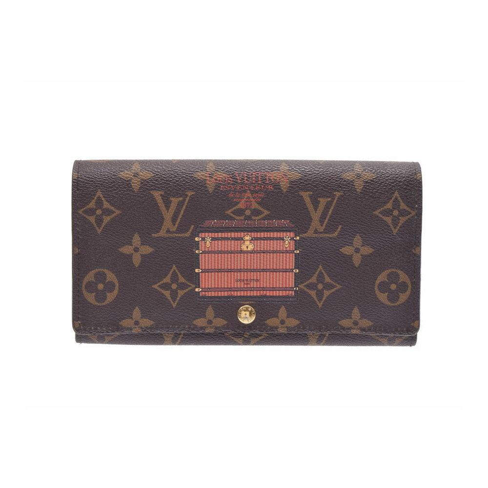 878f4f22e835 ルイ・ヴィトン(Louis Vuitton) ルイヴィトン モノグラム ポルトフォイユ サラ トランクモチーフ ブラウン M60415