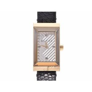 グッチ 147.5 現行品 シルバー文字盤 レディース GP/革 クオーツ 腕時計 ABランク GUCCI 中古 銀蔵