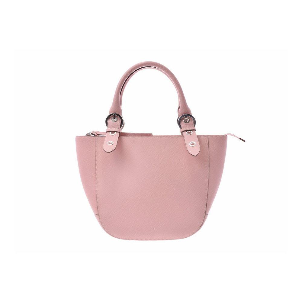 87f5ad207df8 Salvatore Ferragamo Ferragamo handbag pink ladies leather A rank FERRAGAMO  second hand silver storage