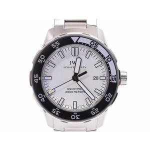IWC アクアタイマー ホワイト 白文字盤 IW356809 メンズ SS 自動巻 腕時計 Aランク 美品 内箱 ギャラ 中古 銀蔵