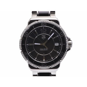 TAG Heuer Formula 1 Black letter board WHA 1212.BA 0859 Ladies Ceramic / SS Quartz Watch A rank 美 品 Galler Used Ginza