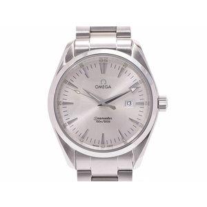 Omega Seamaster Aqua Terra Silver dial 2517.30 Men's SS quartz wristwatch A rank beautiful goods OMEGA secondhand silver store
