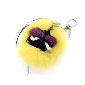 FENDI Fendi Mink Fur Monster Bag Charm Key Holder Multi Color [20180824]