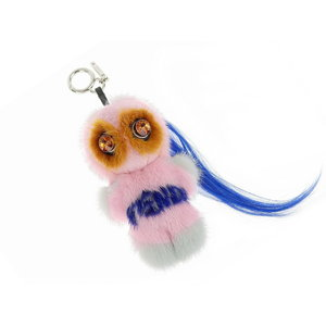 FENDI Fendi Mink Fur Bag Bugs Monster Pillow Charm Key Holder Multi Color [20180831]