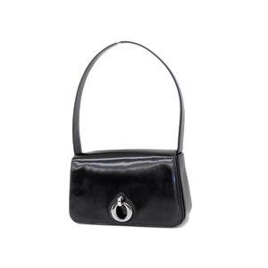 f0b54e24d5 Christian Dior Patent Leather Vintage Handbag Shoulder Black Used   20181026a