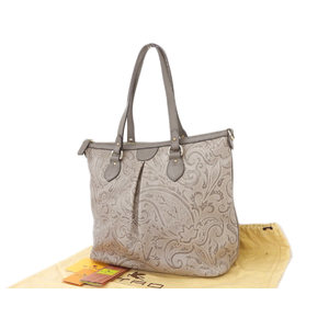 f883b5730 ETRO Etro Calf Leather Paisley Pattern Tote Bag Shoulder Hand Gurege Used  [20181026a]