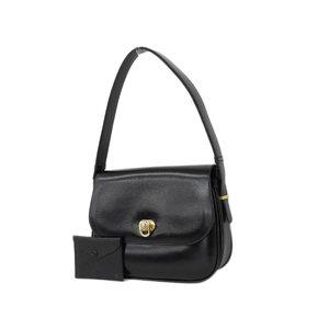 CELINE Celine pig leather handbag shoulder black second hand  20181026b  ea6c73700580c