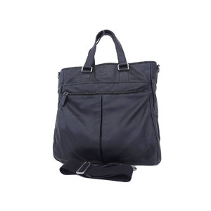 PRADA Prada Leather 2way Tote Hand Shoulder Bag Black Men's Women's [20180705]