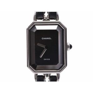 シャネル プルミエール 新型 黒文字盤 H0451 レディース SS/革 クォーツ 腕時計 Aランク 美品 CHANEL 中古 銀蔵