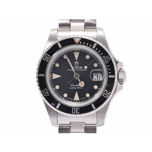 Tudor Lady Submariner Black Letterboard 96090 Ladies' SS Automatic Watch Antique AB Rank TUDOR Used Ginza
