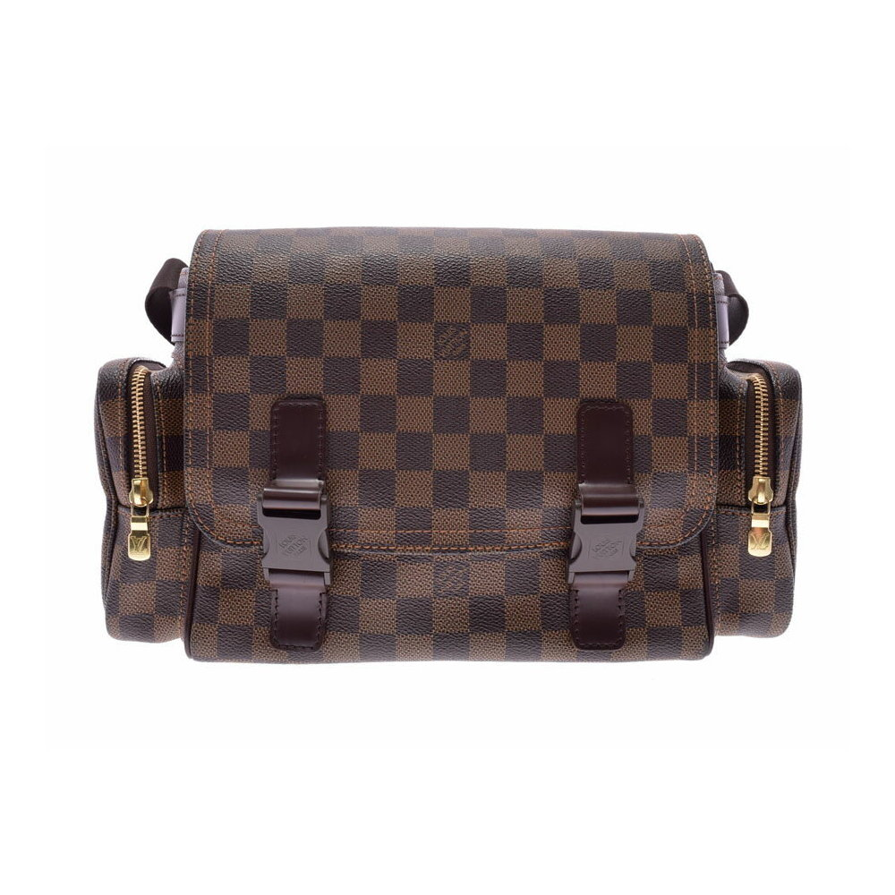 Louis Vuitton Damier Reporter Melvir Brown N51126 Men s Women s Genuine  Leather Shoulder Bag AB Rank LOUIS VUITTON Used Ginza 97c1d7cd87