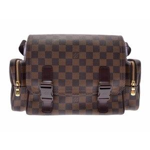 e9164ff15e8b Louis Vuitton Damier Reporter Melvir Brown N51126 Men s Women s Genuine  Leather Shoulder Bag AB Rank LOUIS
