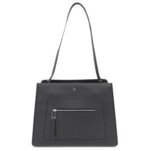 Real FENDI Fendi Runaway Regular Leather 2way Handbag Shoulder Black 8BH343 Bag