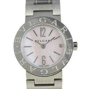 Genuine BVLGARI Bulgari Bvlgari Ladies quartz wristwatch Pink shell face BB23SS
