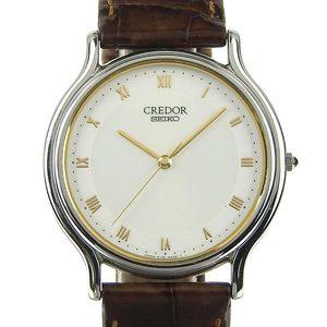 Authentic SEIKO Seiko Credor Mens Quartz Wrist Watch 8J81-6A30