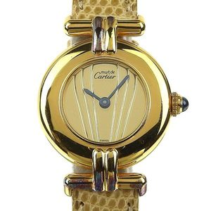 Genuine CARTIER Cartier Mast Colisee Vermeil Women's Quartz Wrist Watch