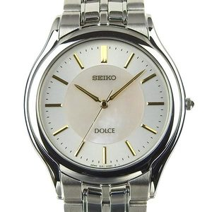 Real Seiko Dolce Men's Quartz Wrist Watch 8J41-6030 Shell Dial