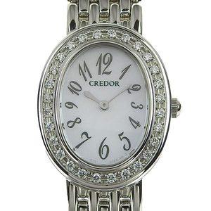 Genuine SEIKO Seiko Credor Women's Quartz Wrist Watch 1E70-0AB0
