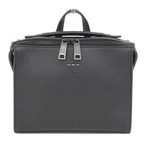 Genuine FENDI Fendi calf leather 2way handbag shoulder black 7M 0238 bag