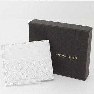 Bottega · Veneta BOTTEGA VENETA Intorechato VN card case 162150 White calf A rank