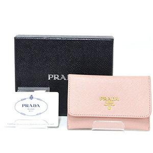 Prada PRADA SAFIANO card case SAFFIANO METAL light pink (ORCHIDEA) 1 M 1362 pass regular term unused item
