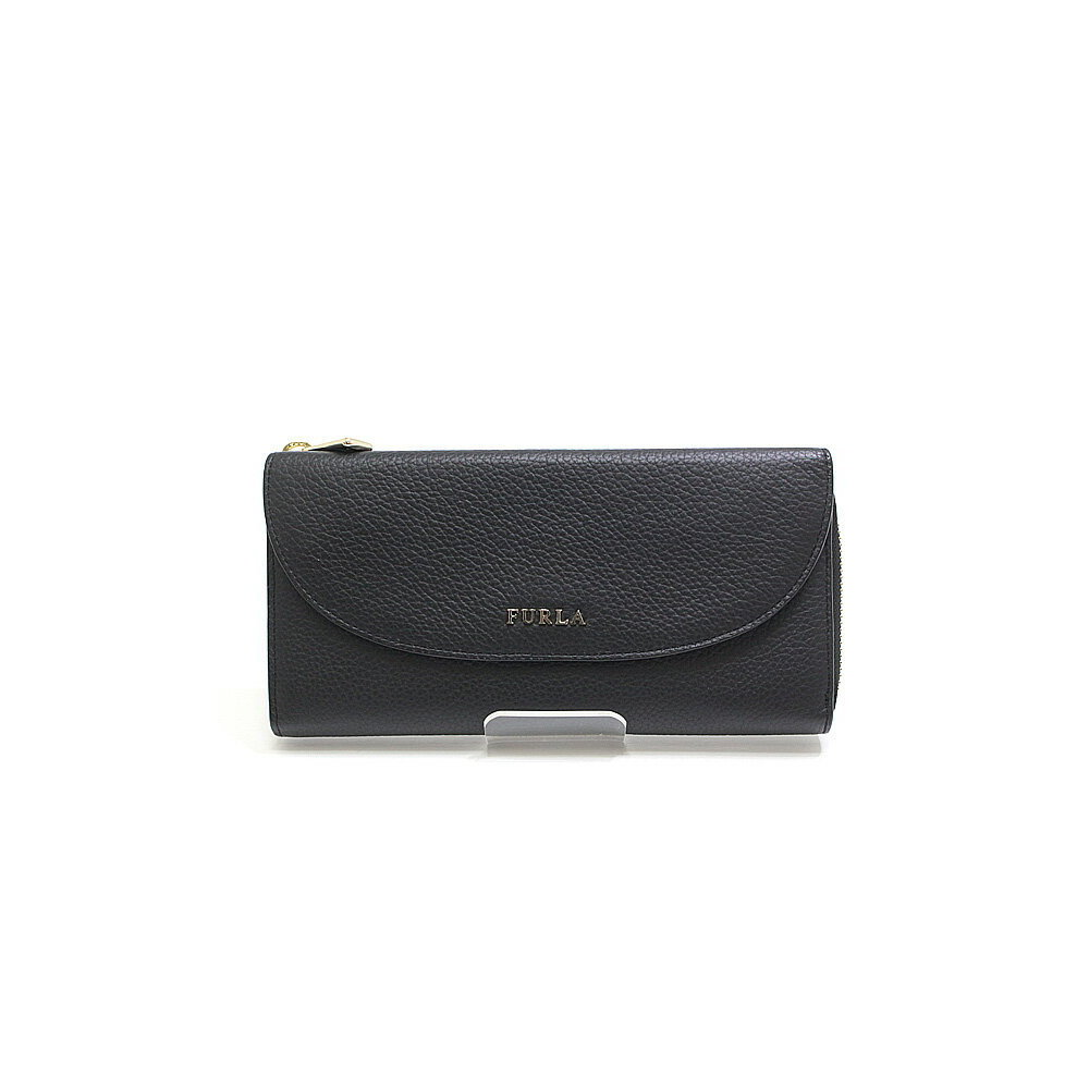 FURLA Furla L character zipper flap pocket wallet 850870 black unused item