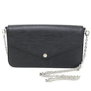 017939561 Louis Vuitton LOUIS VUITTON Pochette Felice Epi Noir (Black) M62648 handbag  clutch bag unused