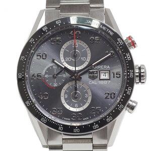 [TAG Heuer] TAG HEUER Men's Wrist Watch Carrera Caliber 1887 Chronograph CAR 2 A 11. BA 0 799 Gray Dial