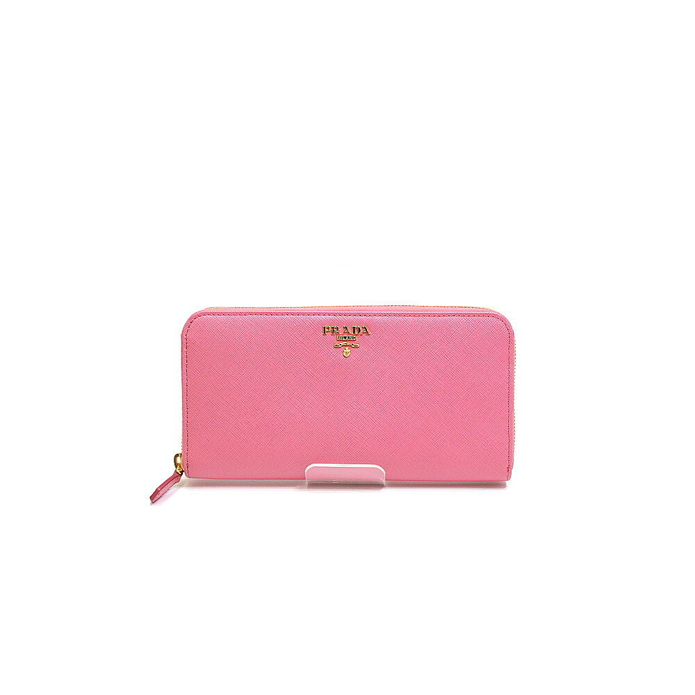 8879f7195e071c PRADA Prada SAFFIANO METAL Round zipper long wallet 1ML 506 GERANIO (pink)  unused item