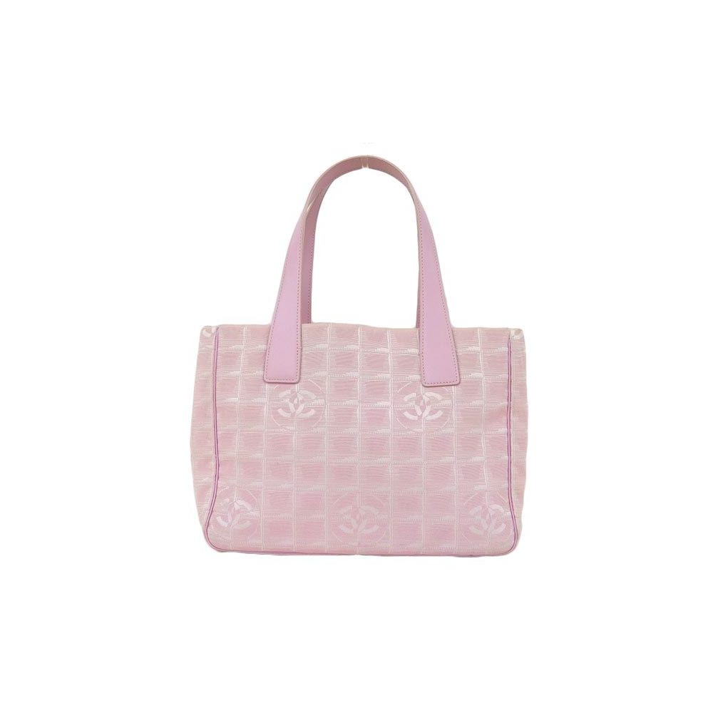 66387d20f27e22 Genuine CHANEL Chanel New Travel Line Nylon Tote Pink 8 Series Bag Leather