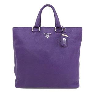 Genuine PRADA Prada Vittel 2 Way Tote Bag purple BN 1713 Leather
