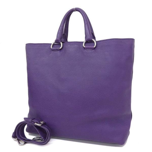 e1c3b12d4da7 Details about Auth Prada Leather Tote Bag Purple