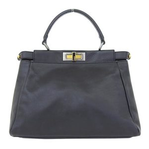 Genuine FENDI Fendi Peacaboo Handbag 2 WAY Black 8 BN 226 Bag Leather