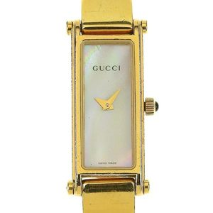 bfa1f59b7c5 Genuine GUCCI Gucci Ladies Quartz Wrist Watch Shell Dial 1500L