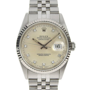 Real ROLEX Rolex Datejust Mens Automatic Watch 16234 G S